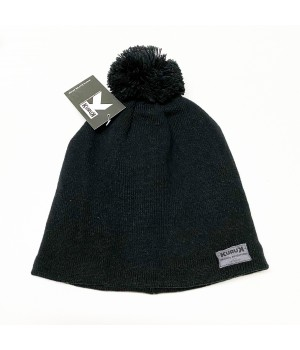 Bonnet Kuruk Pompon Noir -...